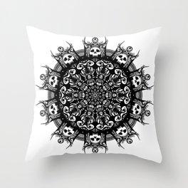 Concentric Skulls I Throw Pillow