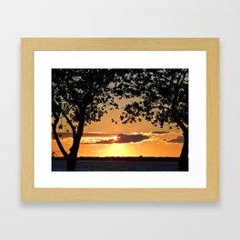Sunset on Summerside Framed Art Print