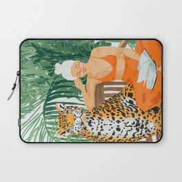 Jungle Vacay #painting #illustration Laptop Sleeve