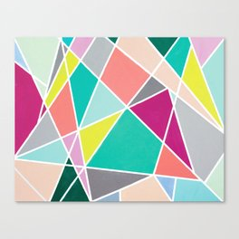 Geometric Spotlights Canvas Print