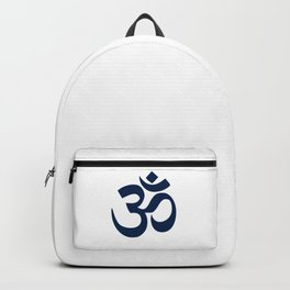 Dark Blue Hindu Om Symbol  Backpack