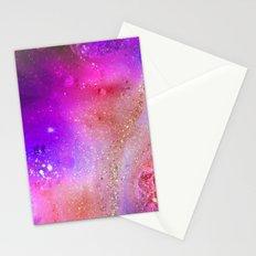 purple sparkles Stationery Cards