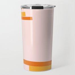 Colored Cactus on rose background Travel Mug
