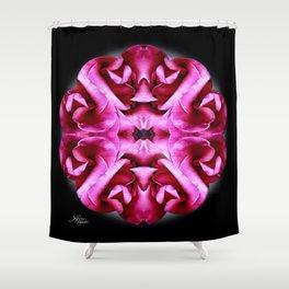 Pink Rose Mandala Shower Curtain