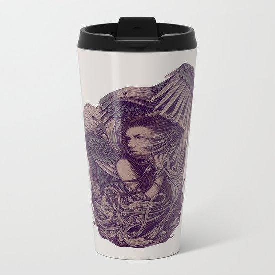 Fight Eagle Metal Travel Mug