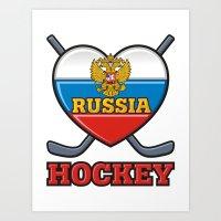 hockey Art Prints featuring HOCKEY by frail