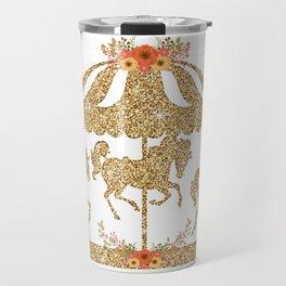 Glitter Carousel Travel Mug