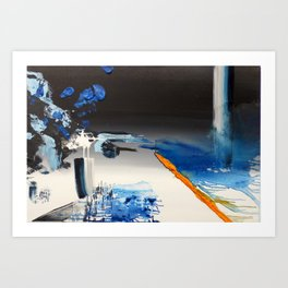 Edge of the Cliff Art Print