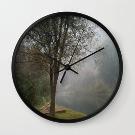Foggy Horizons Wall Clock