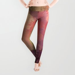 Modern Contemporary Ultra Violet Glow Abstract Leggings