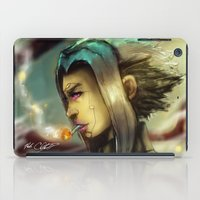 android iPad Cases featuring Smoking Android by markclarkii