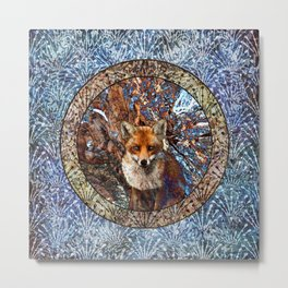 Fox In The Thicket Metal Print