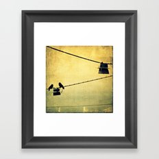 Small town gossip Framed Art Print