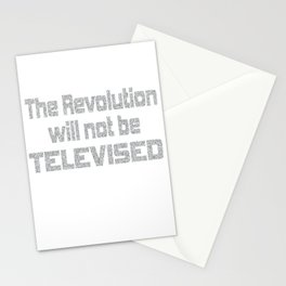This is the awesome revolutionary Shirt Those who make peaceful The revolution will not be televised Stationery Cards