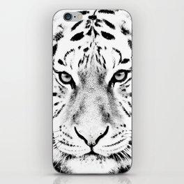 White Tiger Print iPhone Skin