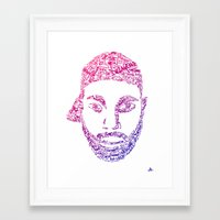 j dilla Framed Art Prints featuring J Dilla All Day. by Ed Duffill