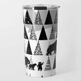 Black and white Forest Travel Mug