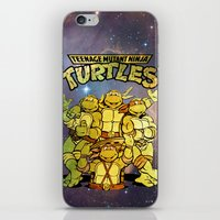 teenage mutant ninja turtles iPhone & iPod Skins featuring Teenage Mutant Ninja Turtles by Nerdy Girl Swag