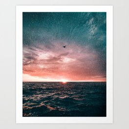 Flying in the Storm Art Print