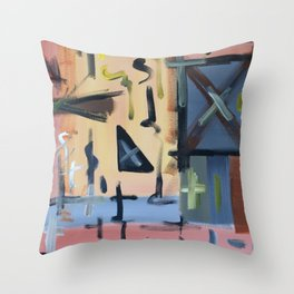 Colourful Chaos Throw Pillow