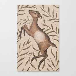 The Goat and Willow Canvas Print