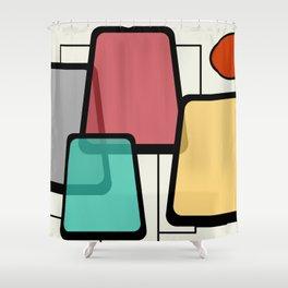 Mid-Century Modern Art Landscape 1.1 Shower Curtain