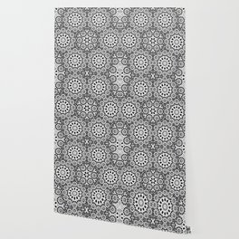 Magical black and white mandala 010 Wallpaper