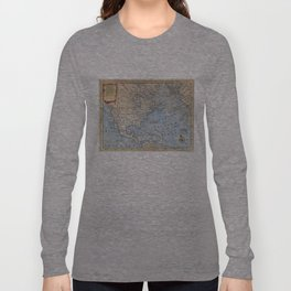 Vintage Map of North America (1747) Long Sleeve T-shirt