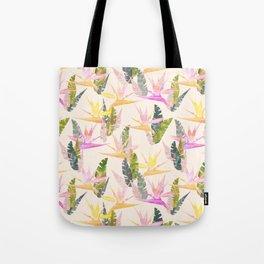 Birdie Tropical Ivory Tote Bag