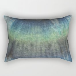 Tie Dye in Blue and Green 17 Rectangular Pillow