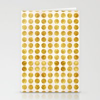 gold dots Stationery Cards featuring Gold Dots by MBJP BLACK LABEL