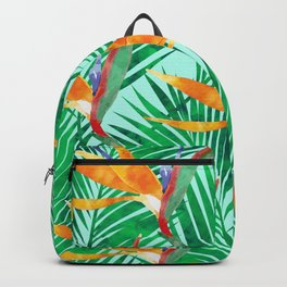 Tropical art with strelitzia Backpack