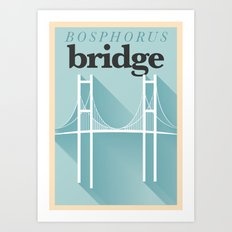 Minimal Bosphorus Bridge Poster Art Print
