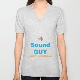 Funny Feedback Tshirt Designs Sound Guy Unisex V-Neck