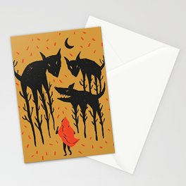 She persists - Wood Cut Art Work Gold Stationery Cards