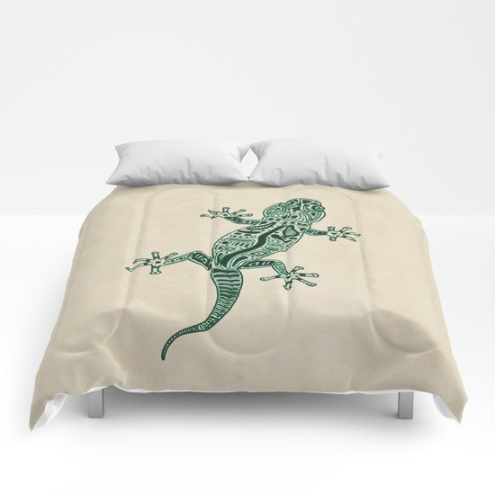 Ornate Lizard Comforters