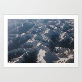 Mountains From Above Art Print