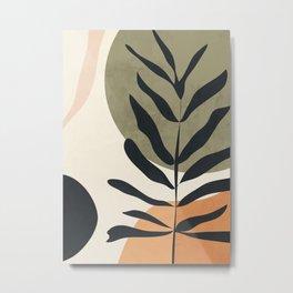 Abstract Art Tropical Leaves 58 Metal Print