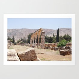 Old Ruins & Mountains Art Print