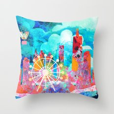 Chicago in the Summer Throw Pillow