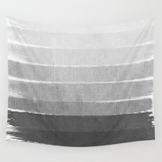 Brushstroke - Ombre Grey, Charcoal, minimal, Monochrome, black and white, trendy,  painterly art  Wall Tapestry