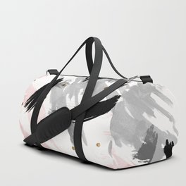 Strokes and gold dots Duffle Bag