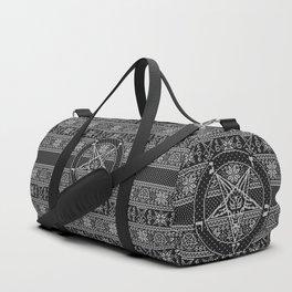 Satanic ugly sweater Duffle Bag