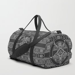 Satanic ugly sweater Duffle Bag