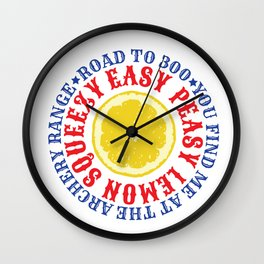 ROAD TO 300 - EAZY PEASY LEMON SQUEEZY Wall Clock