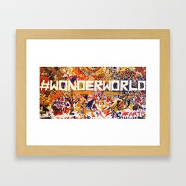 #Wonderworld Framed Art Print