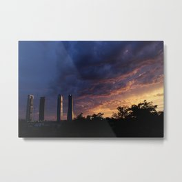 Sunset over Cuatro Torres, Madrid Metal Print
