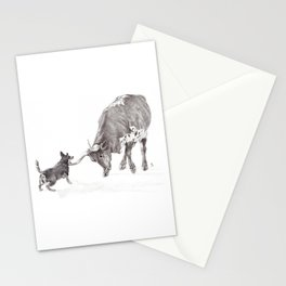 Penny vs. the Cow Stationery Cards