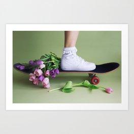 SOILANDSOLE SNEAKER AND SKATEBOARD Art Print