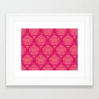 damask Framed Art Prints featuring Damask by cactus studio